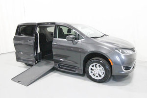 New Wheelchair Van For Sale: 2020 Chrysler Pacifica + Wheelchair Accessible Van For Sale with a Rollx 12.5 Inch Drop Floor Conversion with In-the-floor Ramp on it. VIN: 49752