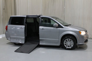 New Wheelchair Van For Sale: 2019 Dodge Grand Caravan SXT Wheelchair Accessible Van For Sale with a Rollx 11 Inch Drop Floor Conversion with In-the-floor Ramp on it. VIN: 49757