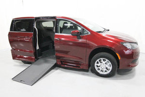 New Wheelchair Van For Sale: 2020 Chrysler Town & Country L Wheelchair Accessible Van For Sale with a Rollx 12.5 Inch Drop Floor Conversion with In-the-floor Ramp on it. VIN: 49760