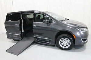 New Wheelchair Van For Sale: 2020 Chrysler Pacifica Touring Wheelchair Accessible Van For Sale with a Rollx 12.5 Inch Drop Floor Conversion with In-the-floor Ramp on it. VIN: 49767