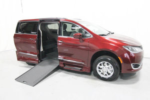 New Wheelchair Van For Sale: 2020 Chrysler Pacifica Touring Wheelchair Accessible Van For Sale with a Rollx 12.5 Inch Drop Floor Conversion with In-the-floor Ramp on it. VIN: 49771
