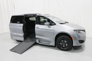 New Wheelchair Van For Sale: 2020 Chrysler Pacifica Touring Wheelchair Accessible Van For Sale with a Rollx 12.5 Inch Drop Floor Conversion with In-the-floor Ramp on it. VIN: 49773