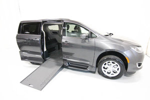 New Wheelchair Van For Sale: 2020 Chrysler Pacifica + Wheelchair Accessible Van For Sale with a Rollx 12.5 Inch Drop Floor Conversion with In-the-floor Ramp on it. VIN: 49885