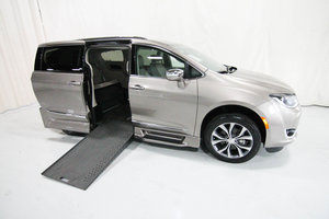 Used Wheelchair Van For Sale: 2018 Chrysler Pacifica L Wheelchair Accessible Van For Sale with a Rollx 12.5 Inch Drop Floor Conversion with In-the-floor Ramp on it. VIN: 49906A