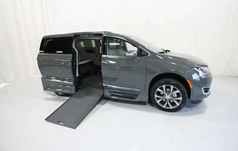 New Wheelchair Van For Sale: 2020 Chrysler Pacifica Limited Wheelchair Accessible Van For Sale with a Rollx 12.5 Inch Drop Floor Conversion with In-the-floor Ramp on it. VIN: 49952