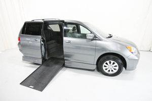 Used Wheelchair Van For Sale: 2009 Honda Odyssey L Wheelchair Accessible Van For Sale with a Rollx 11 Inch Drop Floor Conversion with In-the-floor Ramp on it. VIN: 49968