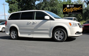 Used Wheelchair Van For Sale: 2012 Dodge Grand Caravan Crew Wheelchair Accessible Van For Sale with a Rollx 11 Inch Drop Floor Conversion With In-the-floor Ramp on it. VIN: 51540A