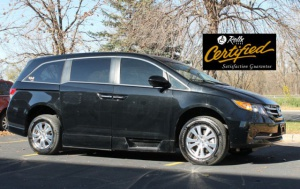 Used Wheelchair Van For Sale: 2016 Honda Odyssey EX Wheelchair Accessible Van For Sale with a Rollx 11 Inch Drop Floor Conversion With In-the-floor Ramp on it. VIN: 51567A