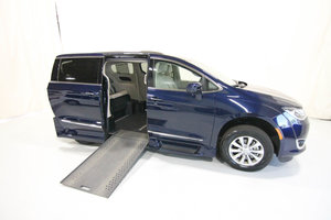 Used Wheelchair Van For Sale: 2019 Chrysler Pacifica L Wheelchair Accessible Van For Sale with a Rollx 12.5 Inch Drop Floor Conversion with In-the-floor Ramp on it. VIN: 51656A