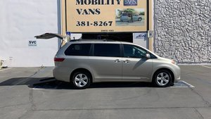 Used Wheelchair Van For Sale: 2016 Toyota Sienna LE Wheelchair Accessible Van For Sale with a Freedom Motors Power Toyota Rear Entry on it. VIN: 5TDKK3DC7GS711937