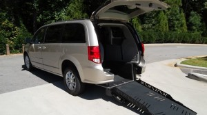 Used Wheelchair Van For Sale: 2014 Dodge Caravan  Wheelchair Accessible Van For Sale with a AutoAbility Wheelchair Van Conversions - Rear Entry Dodge on it. VIN: 00000000000341932