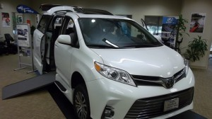 New Wheelchair Van For Sale: 2019 Toyota Sienna XLE Wheelchair Accessible Van For Sale with a VMI - Toyota NorthstarAccess360 on it. VIN: 00000000000009591
