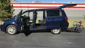 Used Wheelchair Van For Sale: 2016 Dodge Grand Caravan SXT  Wheelchair Accessible Van For Sale with a FR Wheelchair Vans - Dodge Rear Entry on it. VIN: 2c4rdgcg8gr181071