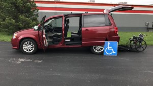 Used Wheelchair Van For Sale: 2016 Dodge Grand Caravan SXT  Wheelchair Accessible Van For Sale with a FR Wheelchair Vans - Dodge Rear Entry on it. VIN: 2c4rdgcg2gr169353