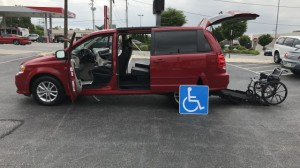 Used Wheelchair Van For Sale: 2016 Dodge Grand Caravan SXT  Wheelchair Accessible Van For Sale with a FR Wheelchair Vans - Dodge Rear Entry on it. VIN: 2c4rdgcg2gr202447