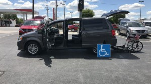 Used Wheelchair Van For Sale: 2016 Dodge Grand Caravan SXT  Wheelchair Accessible Van For Sale with a FR Wheelchair Vans - Dodge Rear Entry on it. VIN: 2c4rdgcg8gr339134