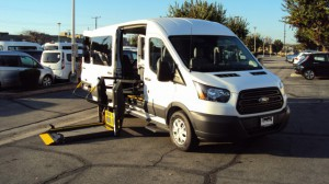 New Wheelchair Van For Sale: 2018 Ford T150 Vans  Wheelchair Accessible Van For Sale with a Sunset Vans Inc - FORD TRANSIT 148WB on it. VIN: 1FTYE2CM5JKA26047