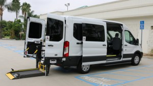 New Wheelchair Van For Sale: 2019 Ford T150 Vans  Wheelchair Accessible Van For Sale with a Sunset Vans Inc - FORD TRANSIT 148WB on it. VIN: 1FTYE2CM4KKA37767
