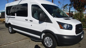 New Wheelchair Van For Sale: 2019 Ford T-150  Wheelchair Accessible Van For Sale with a Sunset Vans Inc - FORD TRANSIT 148WB on it. VIN: 1FTYE2CM1KKA63114