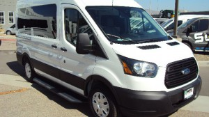 New Wheelchair Van For Sale: 2019 Ford T150 Vans  Wheelchair Accessible Van For Sale with a Sunset Vans Inc - Ford Transit 130WB on it. VIN: 1FTYE1CM3KKB43041