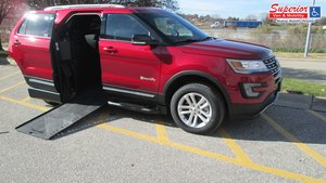 New Wheelchair Van For Sale: 2017 Ford Explorer LT Wheelchair Accessible Van For Sale with a BraunAbility MXV Wheelchair SUV on it. VIN: 1FM5K7D88HGA77576