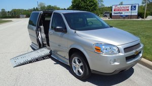 Used Wheelchair Van For Sale: 2005 Chevrolet Uplander LT Wheelchair Accessible Van For Sale with a BraunAbility Chevrolet Entervan on it. VIN: 1GBDV13L25D253193