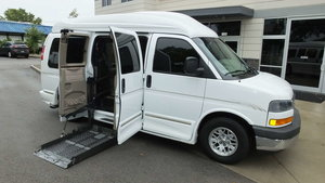 Used Wheelchair Van For Sale: 2003 GMC Savana  Wheelchair Accessible Van For Sale with a Non Branded Wheelchair Lift & Tiedowns on it. VIN: 1GDFG15T231134162