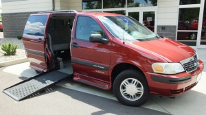 Used Wheelchair Van For Sale: 2002 Chevrolet Venture LE Wheelchair Accessible Van For Sale with a Eldorado National Amerivan Amerivan Classic on it. VIN: 1GNDX03E62D316851