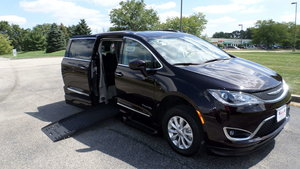Used Wheelchair Van For Sale: 2019 Chrysler Pacifica Touring Wheelchair Accessible Van For Sale with a BraunAbility Chrysler Pacifica Foldout XT on it. VIN: 2C4RC1BG0KR603540