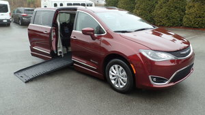 New Wheelchair Van For Sale: 2019 Chrysler Pacifica Touring Wheelchair Accessible Van For Sale with a BraunAbility Chrysler Pacifica Foldout on it. VIN: 2C4RC1BG2KR613678
