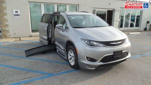 Used Wheelchair Van For Sale: 2017 Chrysler Pacifica Touring Wheelchair Accessible Van For Sale with a BraunAbility BraunAbility Pacifica Foldout XT on it. VIN: 2C4RC1BG5HR667520