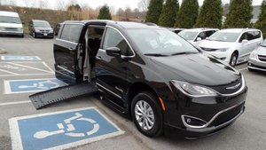 New Wheelchair Van For Sale: 2018 Chrysler Pacifica Touring Wheelchair Accessible Van For Sale with a BraunAbility BraunAbility Pacifica Foldout XT on it. VIN: 2C4RC1BG7JR117760