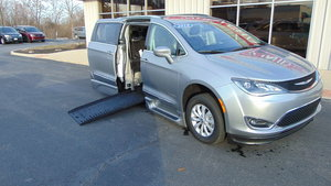 Used Wheelchair Van For Sale: 2018 Chrysler Pacifica Touring Wheelchair Accessible Van For Sale with a BraunAbility Chrysler Pacifica Foldout XT on it. VIN: 2C4RC1BG8JR364429