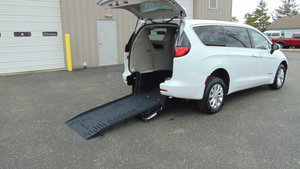 Used Wheelchair Van For Sale: 2018 Chrysler Pacifica LX Wheelchair Accessible Van For Sale with a BraunAbility Chrysler Pacifica Rear-Entry on it. VIN: 2C4RC1CG6JR171355