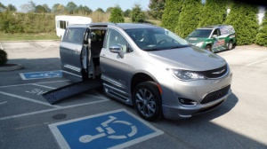 New Wheelchair Van For Sale: 2017 Chrysler Pacifica Limited Wheelchair Accessible Van For Sale with a BraunAbility BraunAbility Pacifica Foldout XT on it. VIN: 2C4RC1GG3HR812434