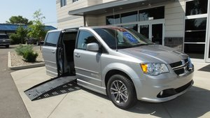 New Wheelchair Van For Sale: 2017 Dodge Grand Caravan SXT Wheelchair Accessible Van For Sale with a BraunAbility Dodge Entervan II on it. VIN: 2C4RDGCG2HR783966