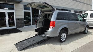 Used Wheelchair Van For Sale: 2016 Dodge Grand Caravan SXT Wheelchair Accessible Van For Sale with a BraunAbility Dodge Manual Rear Entry on it. VIN: 2C4RDGCGXGR380901