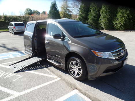 Used Wheelchair Van For Sale: 2012 Honda Odyssey EX Wheelchair Accessible Van For Sale with a  on it. VIN: 5FNRL5H47CB057742