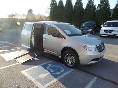 Used Wheelchair Van For Sale: 2012 Honda Odyssey EX-L Wheelchair Accessible Van For Sale with a  on it. VIN: 5FNRL5H67CB043034