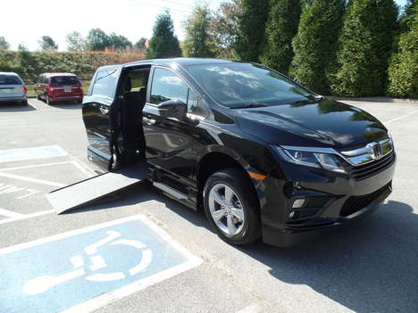 New Wheelchair Van For Sale: 2020 Honda Odyssey EX-L Wheelchair Accessible Van For Sale with a  on it. VIN: 5FNRL6H77LB063735
