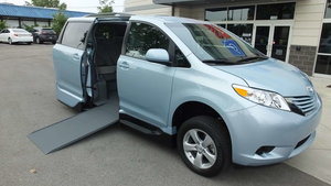 Used Wheelchair Van For Sale: 2016 Toyota Sienna LE Wheelchair Accessible Van For Sale with a VMI Toyota NorthstarAccess360 on it. VIN: 5TDKK3DC9GS738587