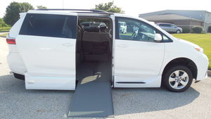 Used Wheelchair Van For Sale: 2018 Toyota Sienna LE Wheelchair Accessible Van For Sale with a VMI Toyota NorthstarAccess360 on it. VIN: 5TDKZ3DC6JS924980