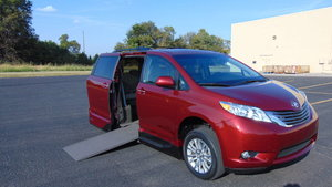Used Wheelchair Van For Sale: 2015 Toyota Sienna XLE Wheelchair Accessible Van For Sale with a VMI Toyota NorthstarAccess360 on it. VIN: 5TDYK3DC5FS644294