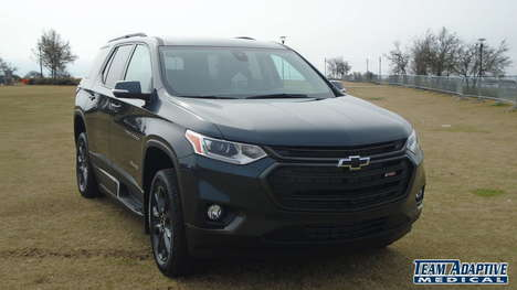 Used Wheelchair Van For Sale: 2021 Chevrolet Traverse S Wheelchair Accessible Van For Sale with a BraunAbility BraunAbility Chevy Traverse - Wheelchair SUV on it. VIN: 1GNERJKWXMJ115294