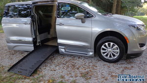 Used Wheelchair Van For Sale: 2018 Chrysler Pacifica L Wheelchair Accessible Van For Sale with a BraunAbility Chrysler Pacifica Foldout XT on it. VIN: 2C4RC1BG3JR216849