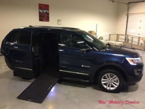 New Wheelchair Van For Sale: 2017 Ford Explorer EX Wheelchair Accessible Van For Sale with a  on it. VIN:  1FM5K7D81HGA90198