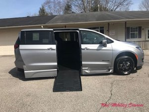 New Wheelchair Van For Sale: 2020 Chrysler Pacifica Touring Wheelchair Accessible Van For Sale with a BraunAbility Chrysler Pacifica Foldout XT on it. VIN: 2C4RC1FGXLR164780