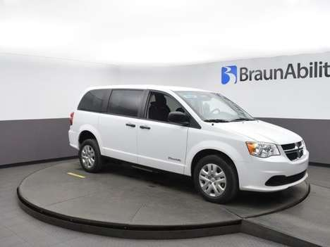 New Wheelchair Van For Sale: 2019 Dodge Grand Caravan SE Wheelchair Accessible Van For Sale with a BraunAbility Dodge Manual Rear Entry on it. VIN: 2C7WDGBG1KR801386