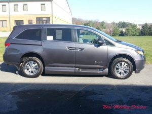 New Wheelchair Van For Sale: 2016 Honda Odyssey EX Wheelchair Accessible Van For Sale with a BraunAbility Honda Entervan II on it. VIN: 5FNRL5H64GB025824