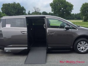 New Wheelchair Van For Sale: 2017 Honda Odyssey EX-L Wheelchair Accessible Van For Sale with a VMI Honda Northstar on it. VIN: 5FNRL5H68HB001446